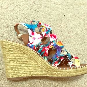 Colorful wedge sandals/like new!